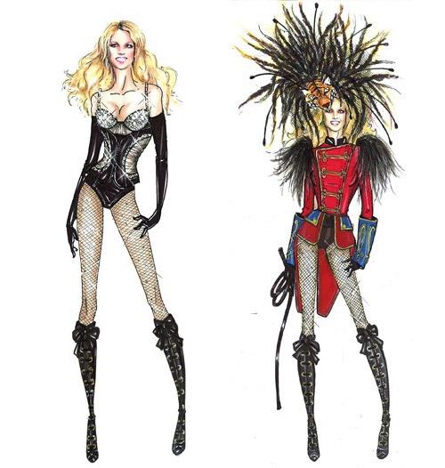 britney spears circus tour costumes. Designs Circus Costumes