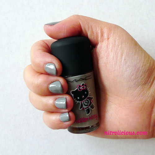 cute hello kitty nail designs. MAC x Hello Kitty On The Prowl