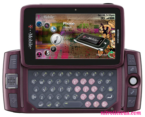 the new sidekick touch screen. The new Sidekick LX is