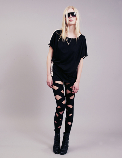 Stolen Girlfriends Club black silk bandage leggings