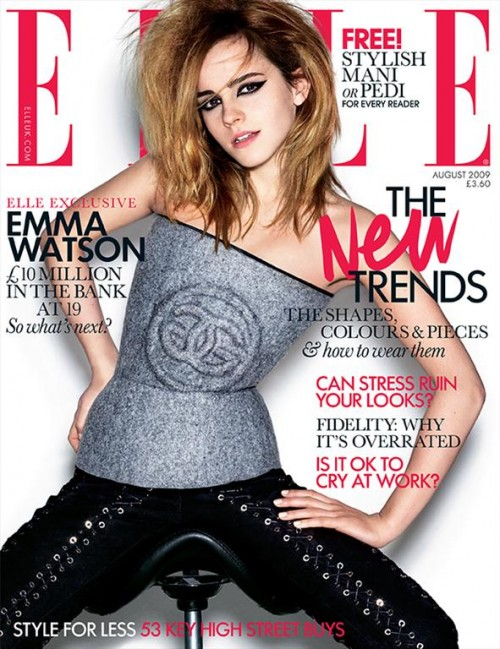 emma watson vogue cover fall. Emma Watson Covers Elle UK