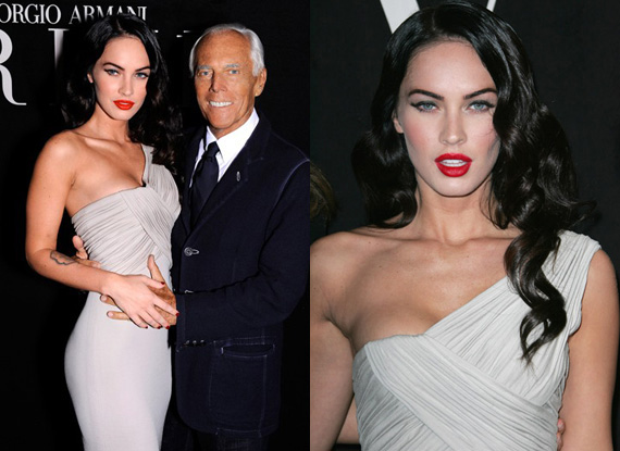 WWD reports that Giorgio Armani tapped Megan Fox to feature in the new