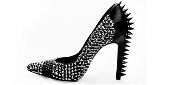 Louise Goldin for Topshop Spring 2010 | nitrolicious.com :  spiky shoes accessory report spring 2010 readytowear brian atwood suede sasha platform anklestrap pump shoes