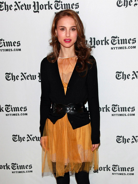 Spotted, Natalie Portman rockin' a yellow Rodarte for Target dress to the