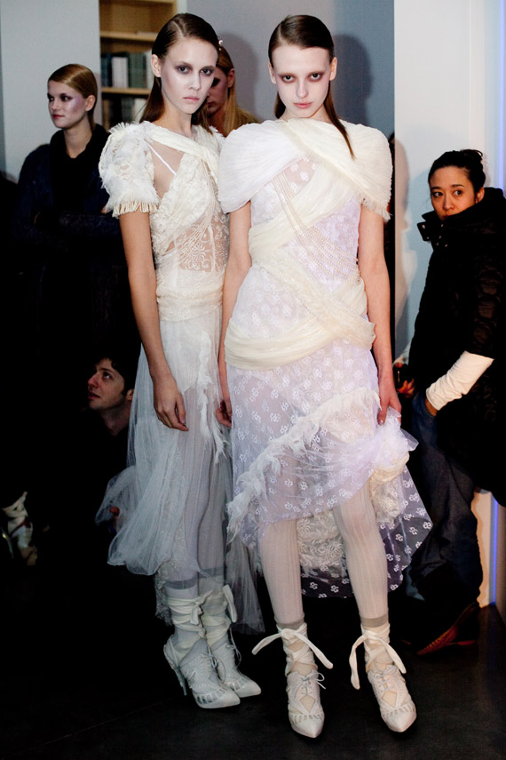 Rodarte Fall 2010 Collection   Backstage + Celebrities