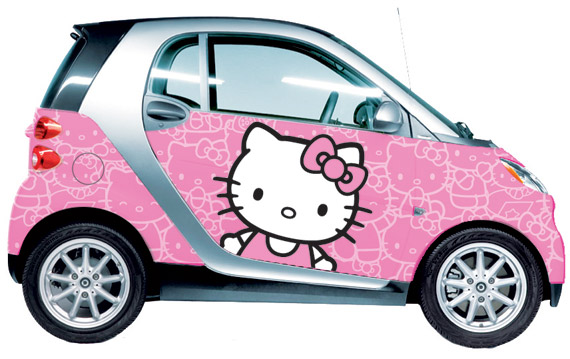 omg you have just found my dream car apart from the one i have i am a huge hello kitty fan as is dd we would love to drive around in this
