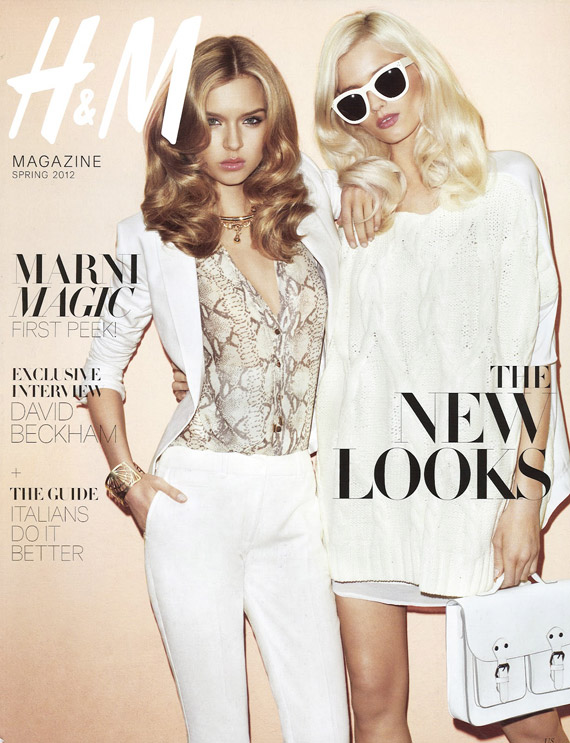 H&M Magazine Spring 2012 Ready Steady Gold ft Abbey Lee Kershaw & Josephine Skriver